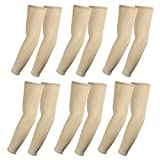 Elixir Arm Sleeves 6pairs bundle pack for cycling, golf, tennis, Hiking and outdoor activities, 6 pairs Beige