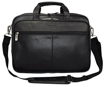 Kenneth-Cole-Reaction-The-I-Rest-My-Case-Leather-Top-Zipper-Laptop-Computer-Briefcase-Business-Bag-Black