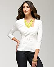 Overlap Shirred Party Top