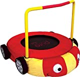 """Pure Fun Kids Jumper: 38"""" Race Car Mini Trampoline with Handrail, Youth Ages 4 to 10"""