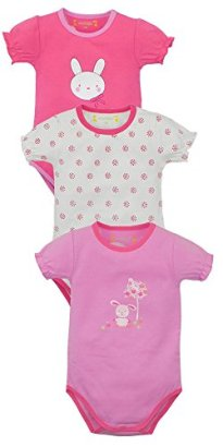 Baby-Girls-3-Pack-Bodysuits-Bunny-Assorted-18-Months