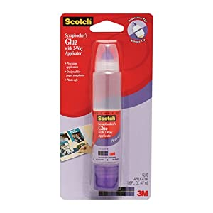 3M Scotch Scrapbooker's 2-Way Glue, 1.6 Ounce