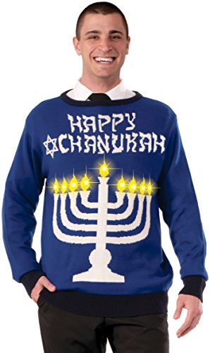 Forum-Novelties-Mens-Lite-Up-Menorah-Chanukah-Sweater