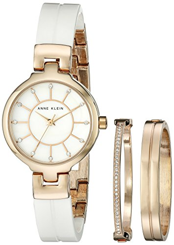 s ak/2048rgst gold-tone bangle watch,two coordinating bracelets,anne klein women,video review,(VIDEO Review) Anne Klein Women's AK/2048RGST Gold-Tone Bangle Watch with Two Coordinating Bracelets,