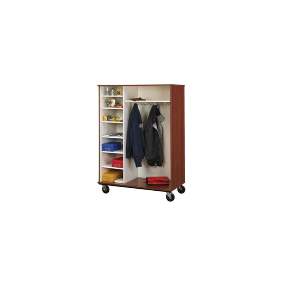 67H Open Mobile Coat Combo Storage Cabinet Office