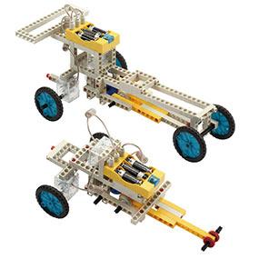 Build 10 remote control models including a formula car and a folding car