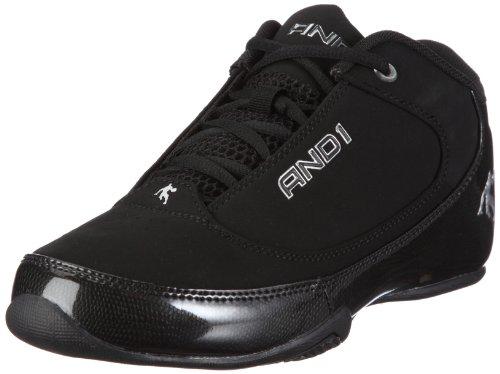 AND1 Slasher Low 1001103051, Unisex - Erwachsene Sportschuhe - Basketball, Schwarz (black/black), EU 43 (US 9.5)