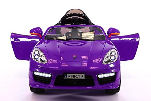 Porsche Boxster 12V Kids Electric Ride-On Car With R/C Parental Remote Battery Powered Toy