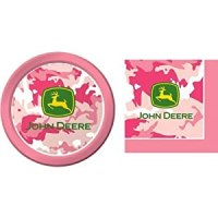 Amazon.com: John Deere Pink Camouflage Paper Plates and ...