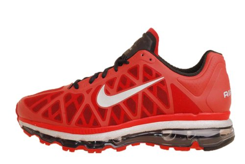 Buy Nike Air Max 2011 Sport Red Silver Mens Running Shoes QS 429889-600 [US size 8]