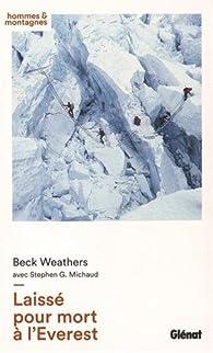 Laissé pour mort à l'Everest Couverture du livre