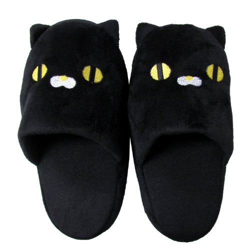 Cute Black Cat Slipper - Round 9.5