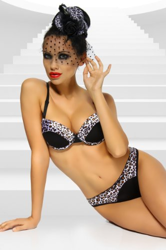 Dessous-Set Push-Up BH & String 2 Farben Gr. 70 75 80 85 90 B