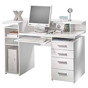 Amazon Tvilum 8012549 Whitman Desk, White Kitchen