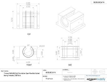 Thomson FNYBUPBO32ALS FluoroNyliner Open Pillow Block