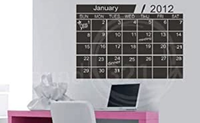 Amazon Repositionable Large Wall Calendar Decal 31