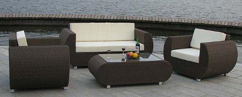 Gartenmöbel Rattan Lounge Set Malaga 2010