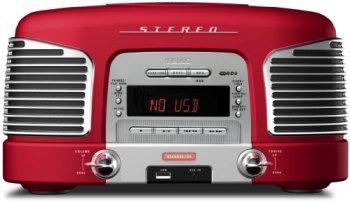 TEAC アメリカンレトロ調CD/USBサウンドシステム レッド SL-D920R
