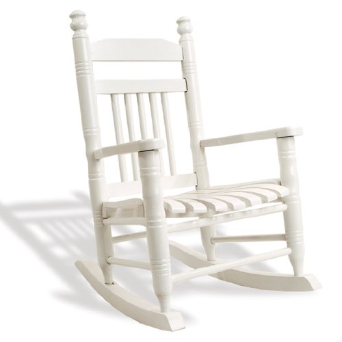 cracker barrel rocking chair reviews faux leather paint old country store slat child - pure white : chairs
