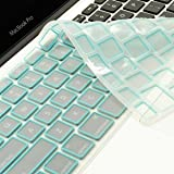 TopCase New Arrival LIGHT BLUE Silicone Keyboard Cover Skin for Macbook Unibody Whtie 13-Inch/Macbook Pro Aluminum Unibody 13, 15, 17-Inch with or without Retina Display/Macbook Air 13-Inch/Old Macbook White 13-Inch/Wireless Keyboard with Logo Mouse Pad