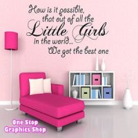1Stop Graphics - Shop Best Little Girl Wall Art Quote ...