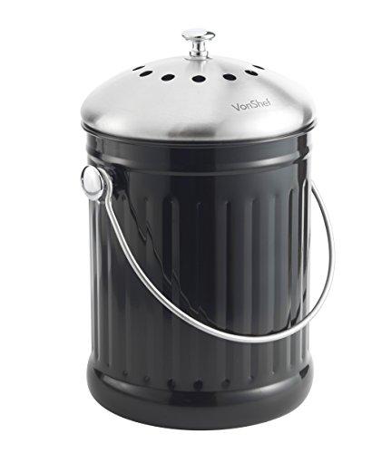kitchen composter pull out faucet vonshef 1 2加仑不锈钢台面厨房堆肥及免费气味吸收过滤器海外省钱快报 中文版 厨房堆肥