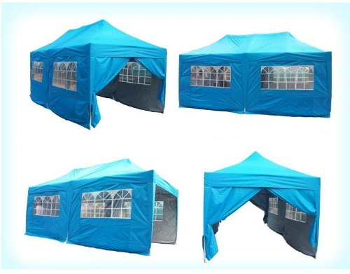 Brand New 10'x20' (3x6m) Heavy Duty Pyramid-roofed Pop Up Party Tent Canopy High Specification & New Features