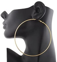 Amazon.com: 12 Pairs of Goldtone 4 Inch Hoop Earrings: Jewelry