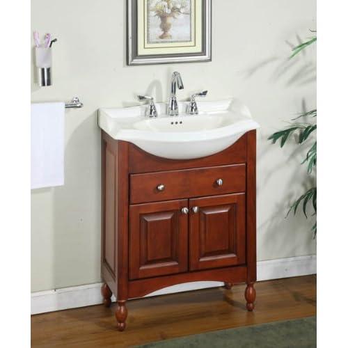 Amazoncom Windsor 26 Narrow Depth Bathroom Vanity Base Base Finish Cognac