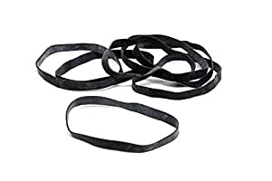 Amazon.com : #64 Black Angler Rubber Bands : Office Products