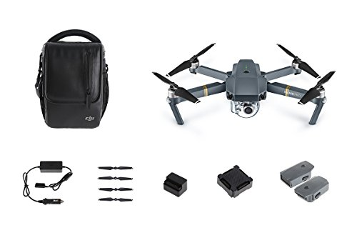 DJI Mavic Pro Bundle with Shoulder Bag, Props, Car Charger and 2 Extra Batteries