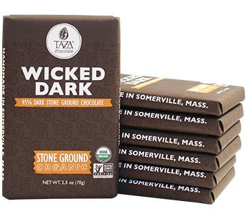 "Taza ""Wicked Dark"" 95% Dark Stone Ground Chocolate, 2.5oz/70g"