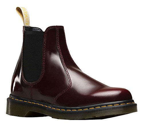 Dr. Martens Men's 2976 Cambridge Brush Chelsea Boot, Cherry Red, 5 UK/6 M US
