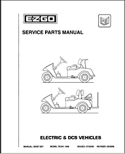 Amazon.com : EZGO 28287G01 1996 Service Parts Manual For