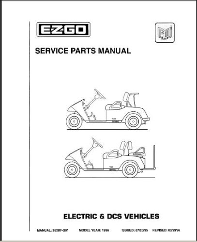E Z GO 28287G01 1996 Service Parts Manual For TXT Electric