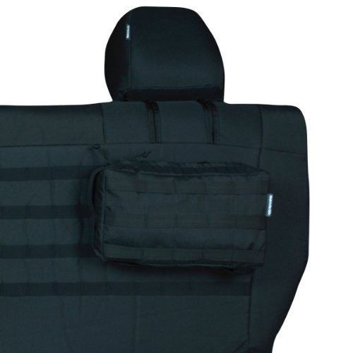 Trek Armor Jeep Seat Covers, Black On Olive Rear Bench