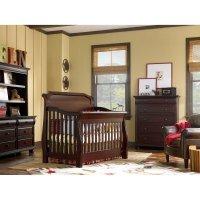 best baby bed: Kathy Ireland Pennsylvania Sleigh 4 in 1 ...