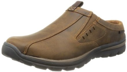 Skechers USA Men's Superior Kane Mule, Dark Brown, 10 M US