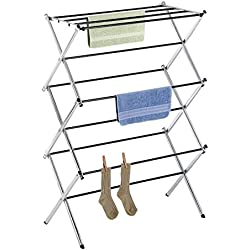 Whitmor 6060-741 Folding Clothes Drying Rack, Chrome, Rust-Proof Guarantee, Premium Quality
