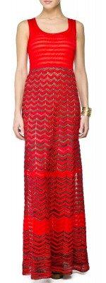 Langes Kleid von Missoni M. Rot