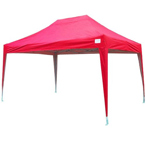 Quictent TM 15x10' EZ Pop Up Party Tent Canopy Gazebo Waterproof No Side Walls (Red)