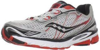 Saucony Men's Progrid Ride 5 Running Shoe,White/Silver/Red,9 M US