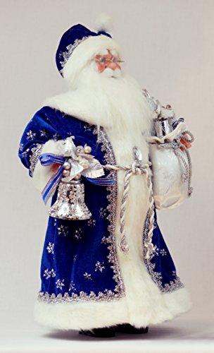 16 Inch Standing Royal Blue Santa Claus Christmas