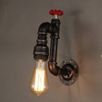 Sanyi Vintage Water Pipe Wall Light Fixture Industrial ...