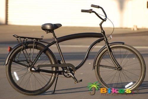 J Bikes Hawk Aluminum 3 Speed Matte Black Men S 26 Beach