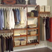 John Louis Home Standard Closet Shelving System, Red Mahogany