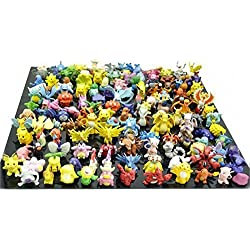 RioRand Pokemon Action Figures, 144-Piece, 2-3 Cm