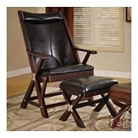 Amazon.com - Folding Chair with Ottoman in Black Bycsat ...