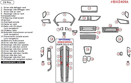 WOW Trim BWZ409A-ROBCF BMW Z4 Basic Kit, 29 Pcs., Real