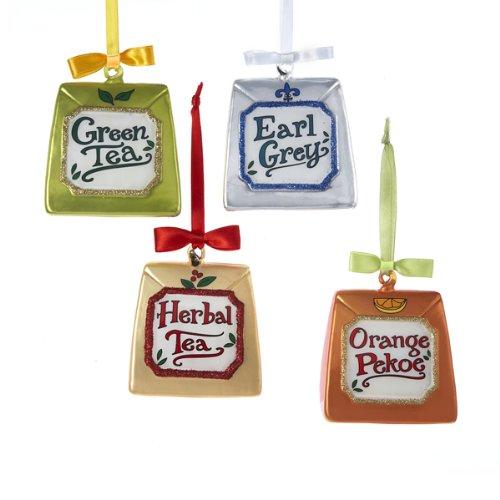 Tea Bag Christmas Ornaments Set